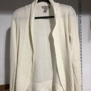 Banana Republic Cream Cardigan Sweater Small